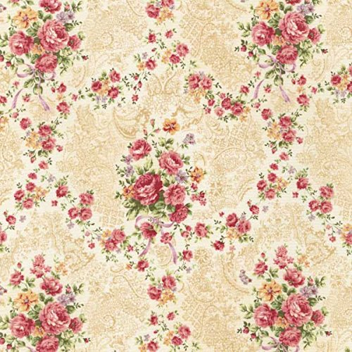 Emma 2- Rose Garland/Blush by Robert Kaufman - Cotton Fabric