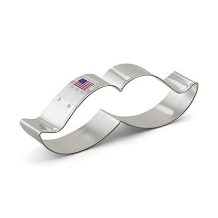 Ann Clark Mustache Cookie Cutter - 5.25 Inches - Tin Plated Steel (Mustache Plates)