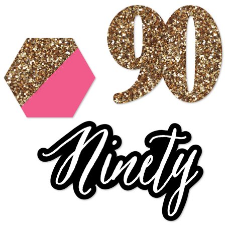 Chic 90th Birthday - DIY Shaped Party Cut-Outs - 24 Count](90th Birthday Tableware)