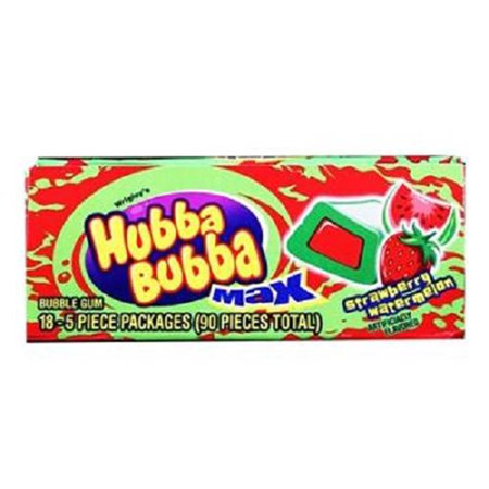 Product Of Hubba Bubba Max, Strawberry/Watermelon, Count 18 (5S) - Gum / Grab Varieties & Flavors ()