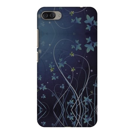 Lily Cell Phone Snap - Asus Zenfone 4 Max ZC554KL Case - Midnight Lily, Hard Plastic Back Cover. Slim Profile Cute Printed Designer Snap on Case with Screen Cleaning Kit