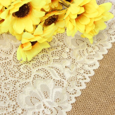 180cmx30cm Burlap Lace Table Runner Homes Christmas Party Decor Wedding Supplies - Burlap Runner
