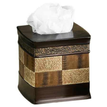 Popular Bath Zambia Copper Collection - Bathroom Tissue Box Cover ()