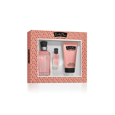 Lucky You Perfume Gift Set for Women, 3 pc Chic Perfume Gift Set