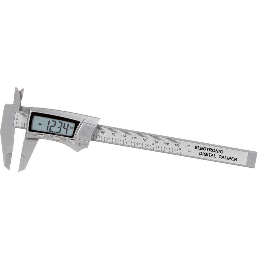 "General Tools 146 Carbon Fiber 6/"" Digital Fractional Calipers"
