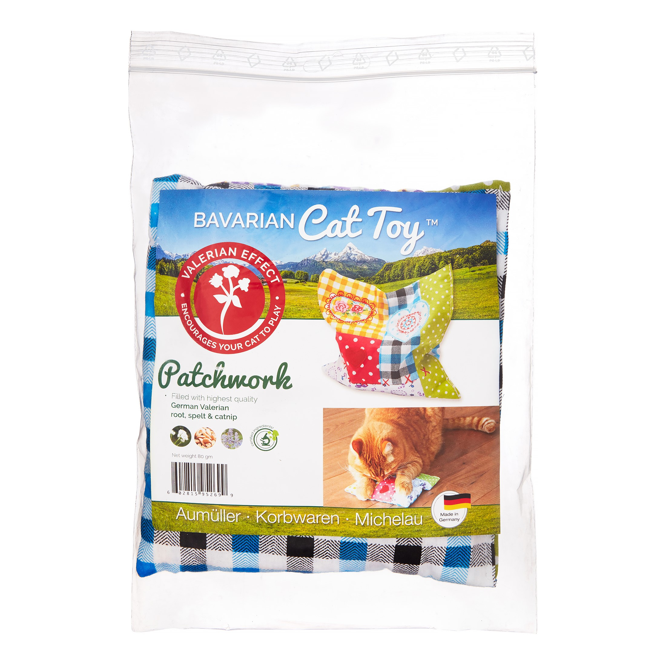 Bavarian Cat Toys Patchwork Pillow Catnip Cat Toy, Medium by Bavarian Cat Toys
