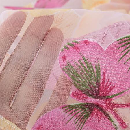 Maison Chambres Ornement Fleurs Polyester Rideau Voilage Fenêtre - image 3 de 4