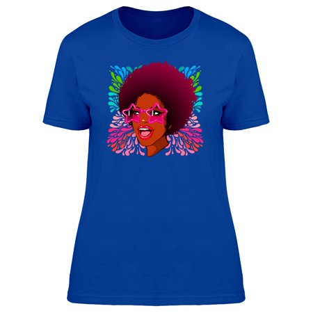 Disco Woman Star Glasses Tee Women's -Image by