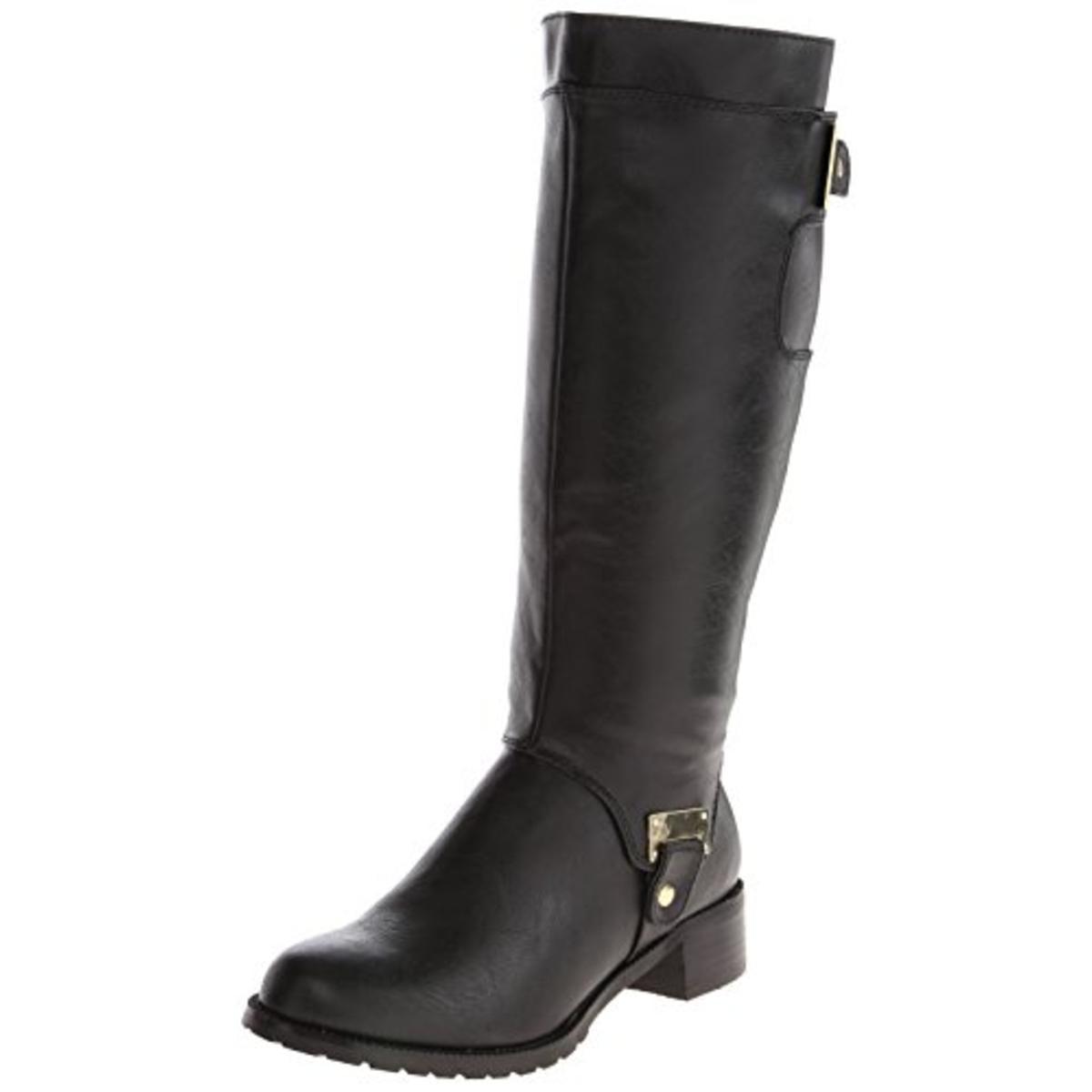Bella Vita Womens Anya II Plus Wide Calf Faux Leather Riding Boots by Bella Vita