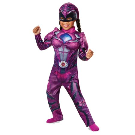 Power Rangers Toddler Girls Pink Ranger Costume Jumpsuit & Hat - Power Ranger Outfit For Adults