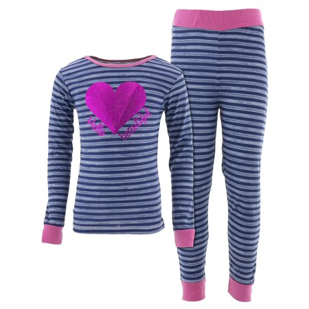Blue Cotton Pajama - Cozy Couture Girls Hello Beautiful Blue Striped Cotton Pajamas