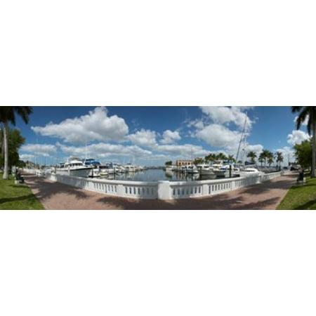 Park at the riverside Twin Dolphin Marina Manatee River Bradenton Manatee County Florida USA Canvas Art - Panoramic Images (18 x 6) (Party City Bradenton Florida)