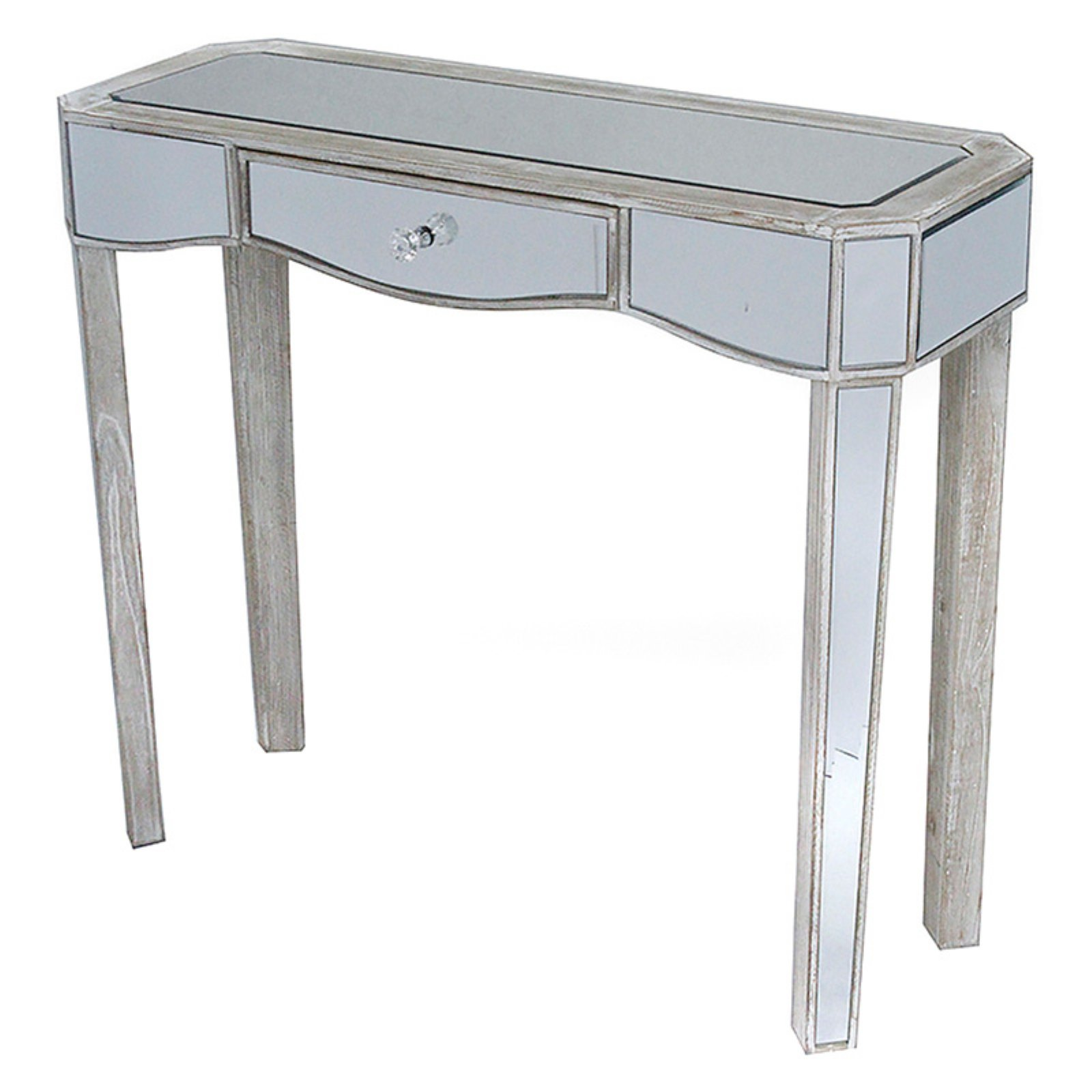 Heather Ann Creations Elizabeth Writing Desk with Mirror Accents