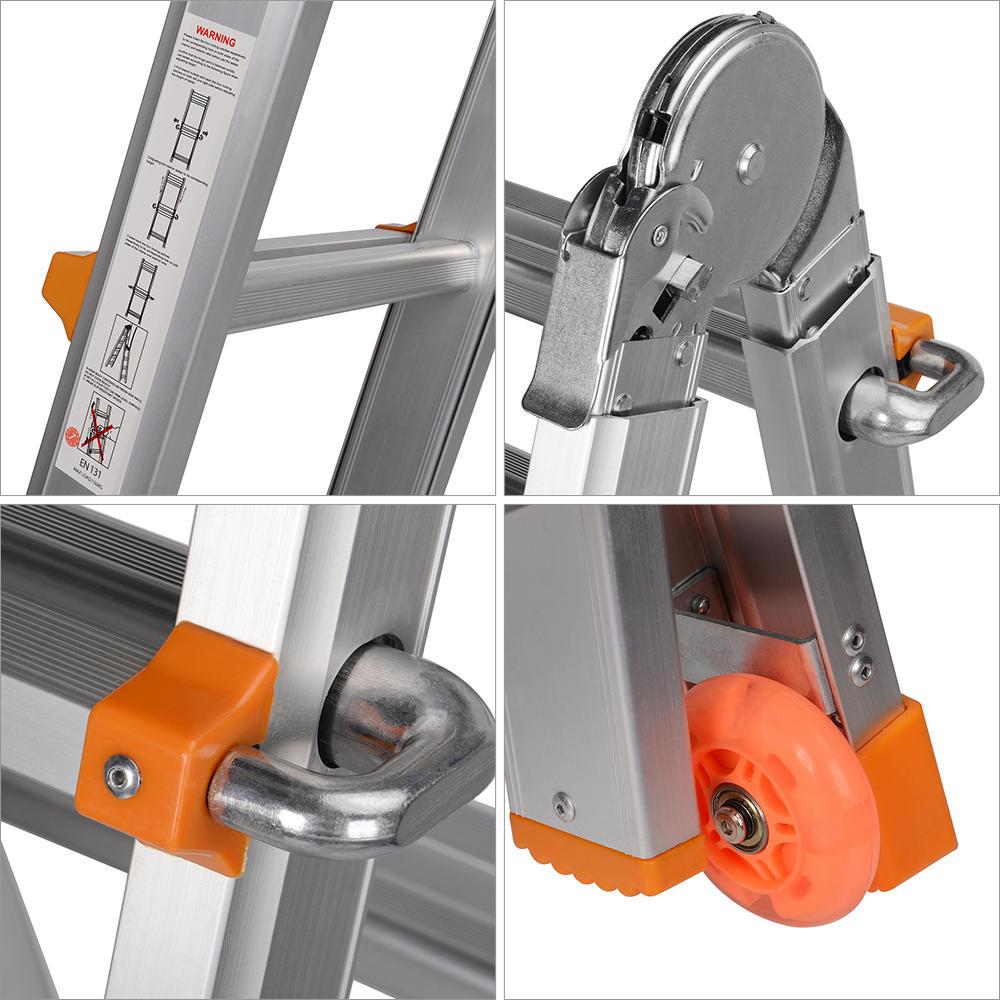 9.4ft Lightweight Telescopic Ladder with Safety Locker & Non-slip mat, 330 Pound Capacity- GreenWise™ - image 2 de 6