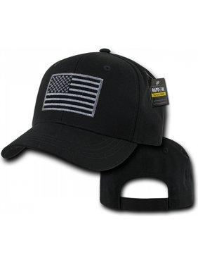 5a7ae8fe81c Product Image RapDom USA Flag Embroidered Operator Mens Cap  Black -  Adjustable