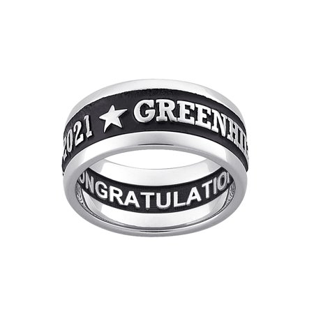 Freestyle Class Rings - Personalized Men's Sterling Silver