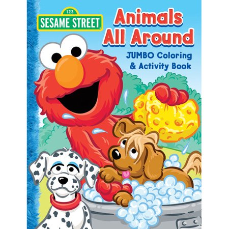 sesame street jumbo coloring and activity book
