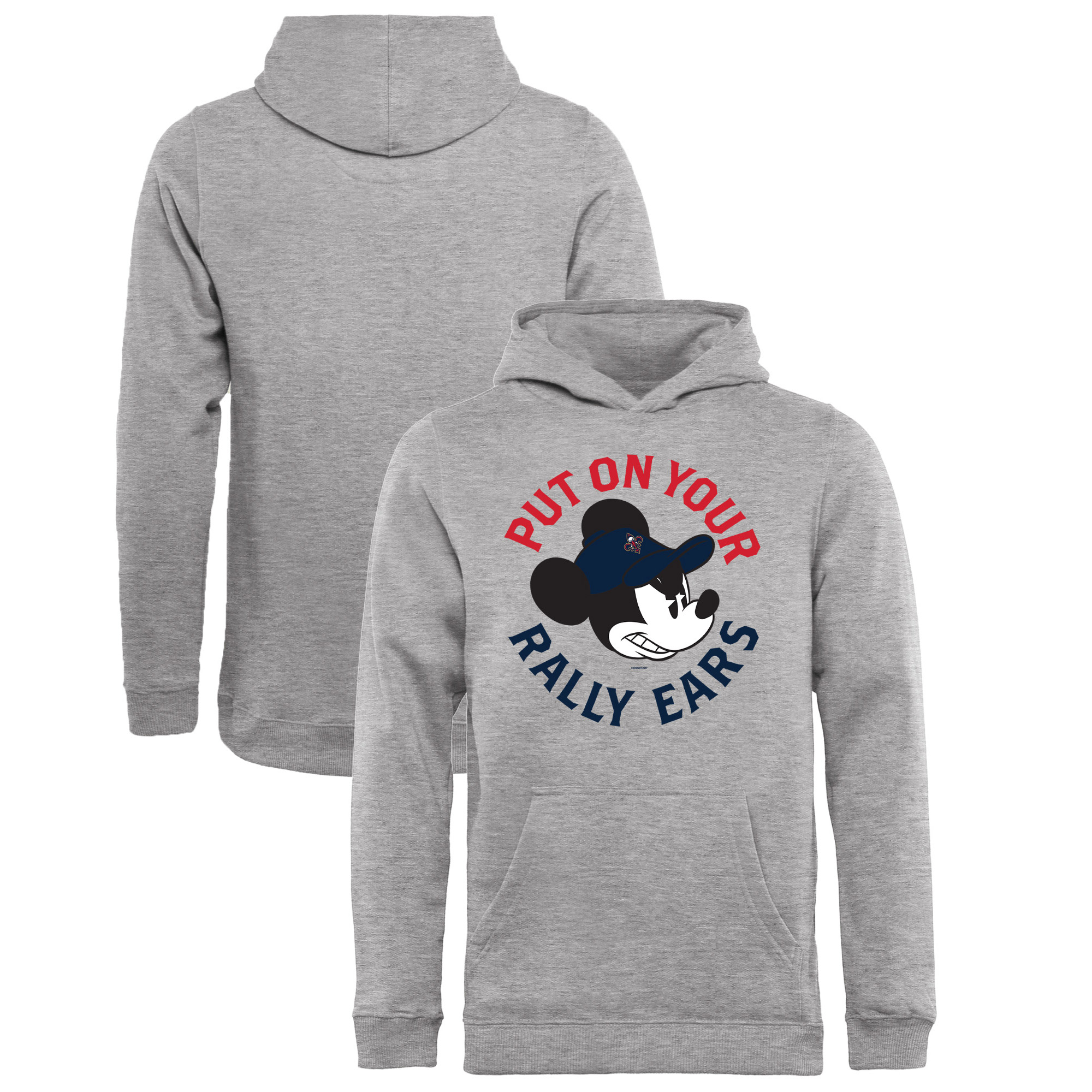New Orleans Pelicans Fanatics Branded Youth Disney Rally Ears Pullover Hoodie - Ash
