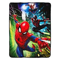 "Super Soft Throws - Spiderman - Swing City New 45x60"" Blanket"