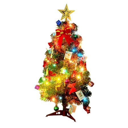 Christmas tree small pine tree placed on the desktop mini Christmas tree green Christmas holiday decoration exquisite ()