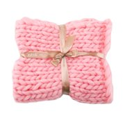 Chunky Knit Yarn Blanket Thick Bulky Knitted Warm Sofa Throw Home Decor
