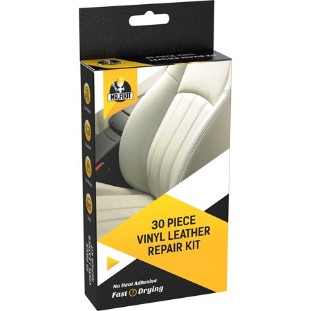 30pc Set Leather & Vinyl Repair Kit [Restore any Material] Scratch Restoration - Best for Couch, Car Seats, Sofa,
