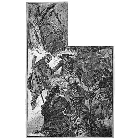 Quebec Expedition 1775 Nthe Unsuccessful American Expedition Under The Leadership Of Colonel Benedict Arnold To Capture Quebec Canada In 1775 American Engraving 19Th Century Rolled Canvas Art -  (24 - Halloween In 19th Century America