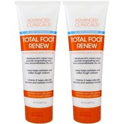 Best Foot Cream For Dry Cracked Heels - Advanced Clinicals Total Foot Renew Cream- Relief Review
