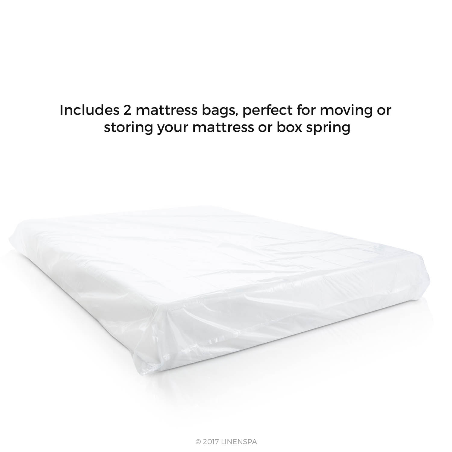 linenspa 2 pack mattress bags for moving storage and disposal
