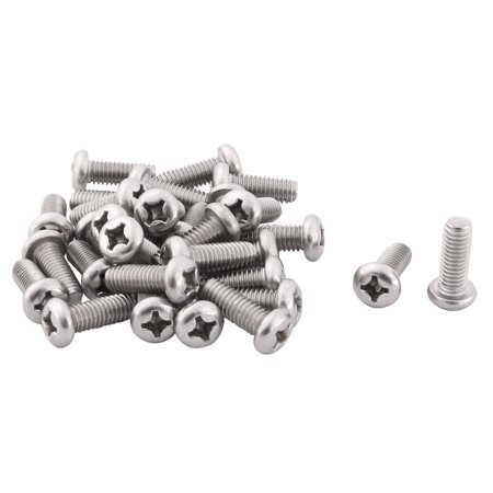 Cafe Factory Stainless Steel Furniture Table Door Hardware Machine Bolts 30 Pcs ()