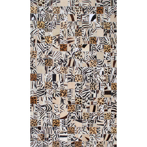 Modern Rugs Patchwork Animal Print Multi-colored Area Rug