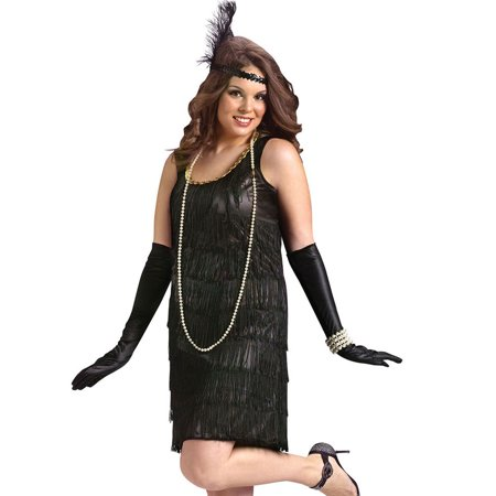 Flapper Adult Plus Halloween Costume, Size: Women's 16-20 - One Size - Working On Halloween