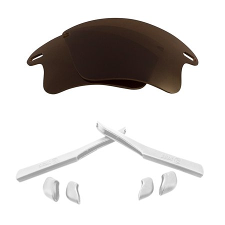 Lenses Kit Compatible with OAKLEY FAST JACKET XL Polarized Brown & (Fast Jacket Xl Lenses)