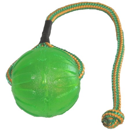 Everlasting Fun Ball on a Rope Dog Toy, Virtually indestructible ball, by