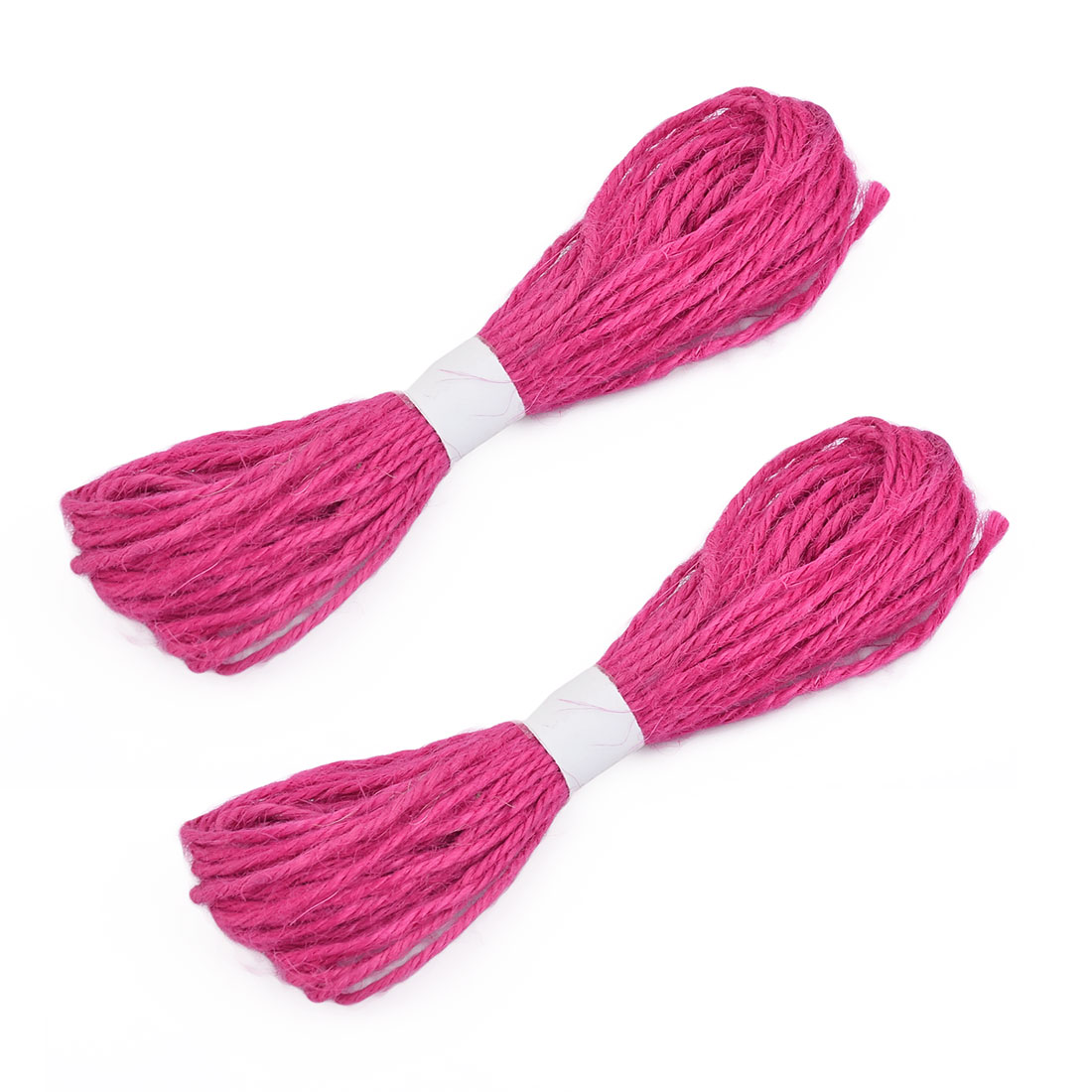 Birthday Festival Craft Gift Wrapping String Yarn Fuchsia 2mm Dia 11 Yards 2pcs
