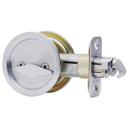 Kwikset 93350-024 Satin Nickel Pocket Door Privacy Lock