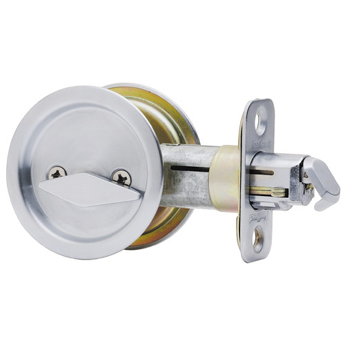 Kwikset 93350-024 Satin Nickel Pocket Door Privacy Lock