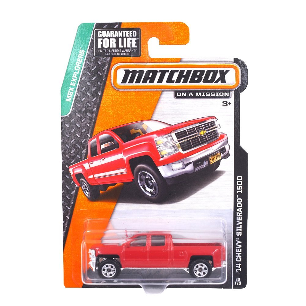 , MBX Explorers, '14 Chevy Silverado 1500 [Red] 29 120 By Matchbox by