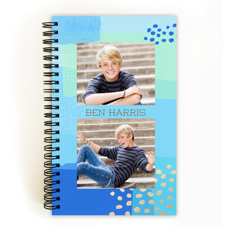 Festive Cut Paper - Personalized 5 x 8 Notebook