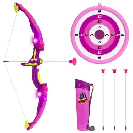 Best Choice Products 24-Inch Light Up Archery Play Set - Suction Cup Arrows, Holder, Target, (Best Suction Cup Dildo)