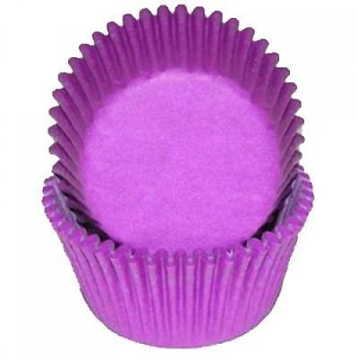 Purple Mini Cupcake Baking Liners - 100 Count - National Cake Supply