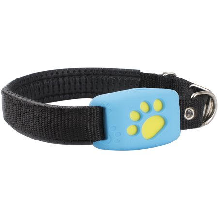 Pet GPS Tracker Device Collar & Activity Monitor for Pet Cats Dogs, Waterproof, Anti Lost Finder Global Monitor Tracker, Required Network Tracking, Free APP & Web Platform, Blue(SIM Card Not (Best Spending Tracker App 2019)