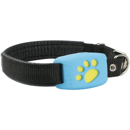 Pet GPS Tracker Device Collar & Activity Monitor for Pet Cats Dogs, Waterproof, Anti Lost Finder Global Monitor Tracker, Required Network Tracking, Free APP & Web Platform, Blue(SIM Card Not