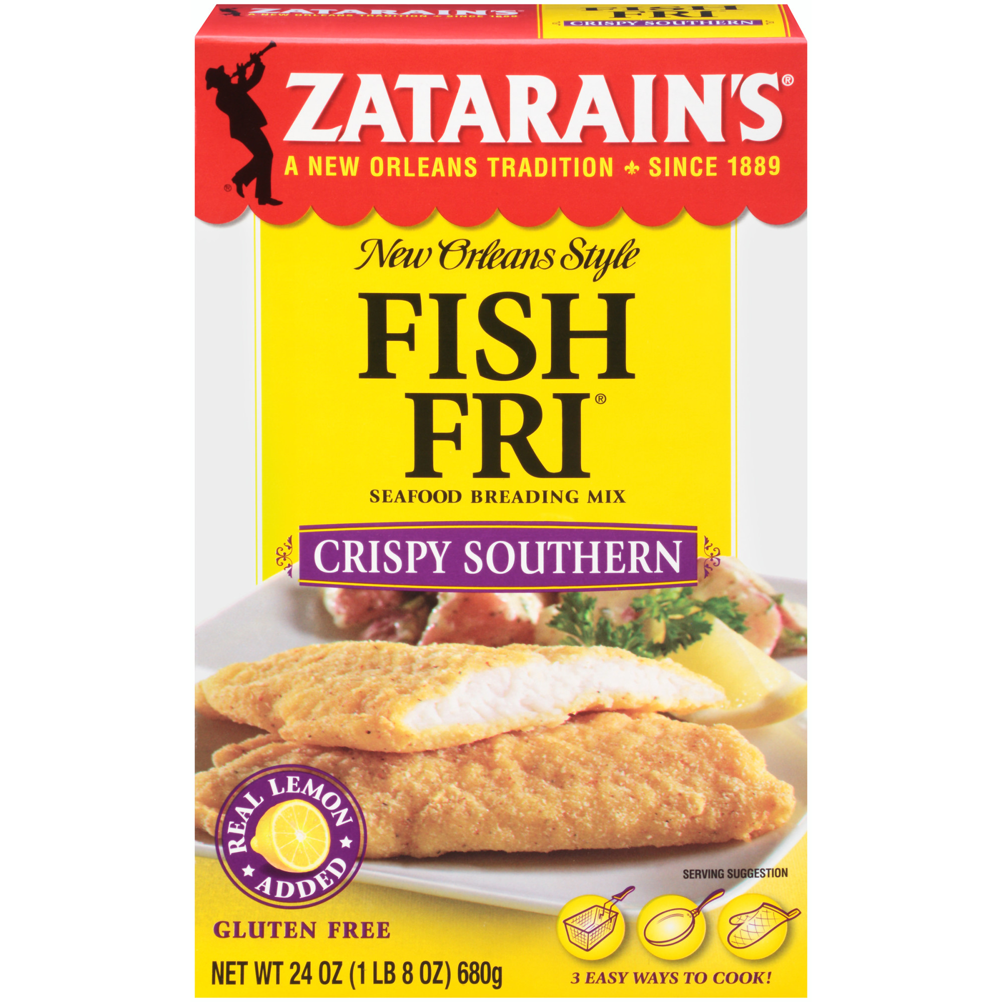(3 Pack) Zatarain's Crispy Southern Fish Fri, 24 oz