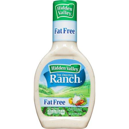 Hidden Valley Original Ranch Fat Free Salad Dressing & Topping - Gluten Free - 16fl oz
