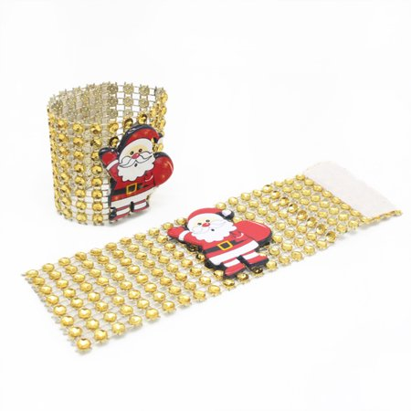 LeKing 9PCS Christmas Napkin Rings Santa Serviette Buckles Holders for Dining Table Holiday Decorations - image 1 of 9