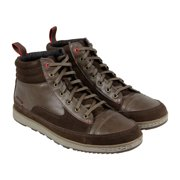 Cushe Burnside Mens Brown Suede & Leather High Top Lace Up Sneakers Shoes