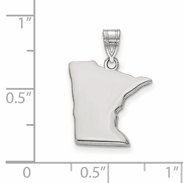 925 Sterling Silver MN State Shaped Pendant Bail Only - image 1 of 2