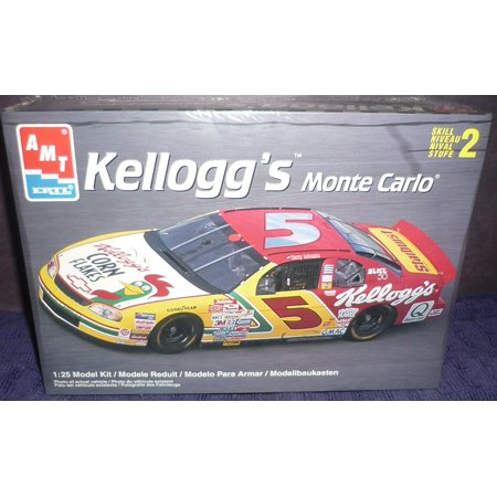 - #6297 Terry Labonte #5 Kelloggs Monte Carlo 1/25 Scale Plastic Model Kit by Ertl, Skill level 2,for ages 8 and up,needs assembly. By AMT