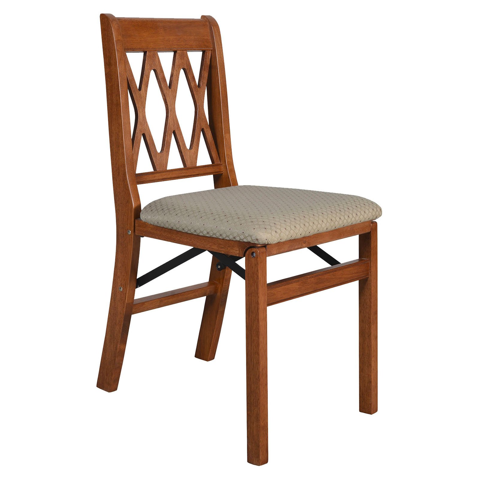 Stakmore 0225.6H Lattice Back Folding Chair (Set of 2)